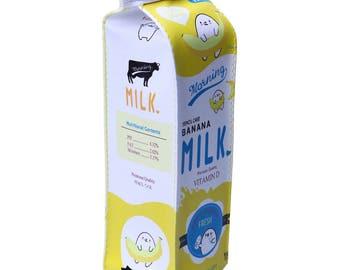 Cute Milk Bag, pencil case PU