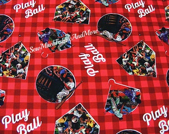 Play Ball Baseball Fabric~By the yard~Springs Creative~Cotton~Sports~Players~