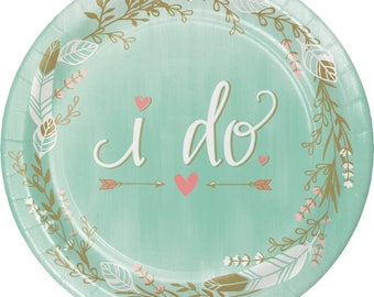It Was Mint To Be Dessert  plates  / bridal shower / Wedding / Mint and Gold Bridal Shower