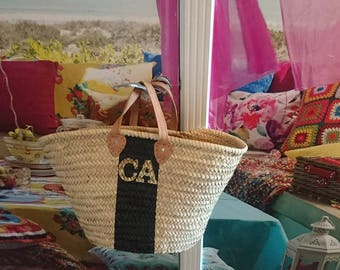 Beach bag beach basket straw basket moroccan basket bag