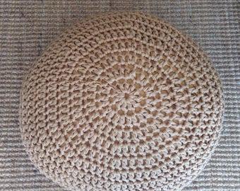 Handmade staffed ottoman pouf