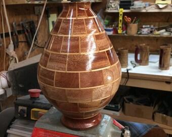African Mahogany and Maple Segmented Vase