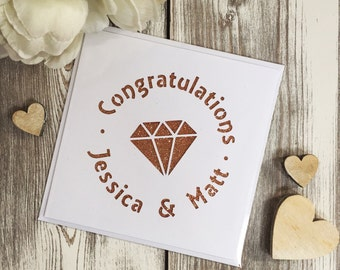 Personalised Engagement wedding papercut card