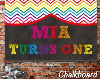 Chevron Rainbow Banner