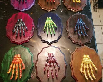 One of a Kind HANDMADE Skeleton Hand Wall Hanger!!