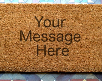 door mat custom engraved coir door mat Size: 400 x 600 mm   UK Based