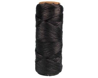 100 foot Spool of Black 1/8th wide 60 lb test Imitation Sinew