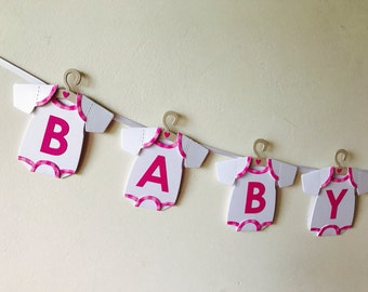Baby Shower Bunting, Baby Shower Banner, New Baby Bunting, New Baby Banner, Luxury Baby Bunting, Baby Shower Keepsake