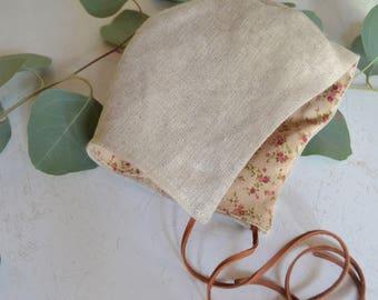 Bonnet   Baby bonnet   Classic baby bonnet   Linen baby bonnet