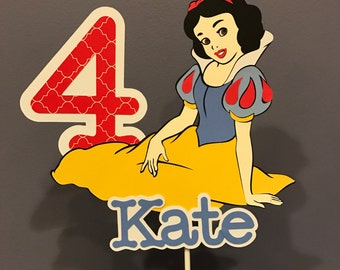 Snow White Cake Topper with name and age