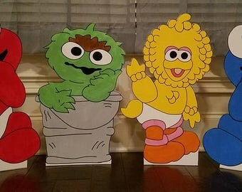 1 ONE 2ft Baby Sesame Street cutout/standee/prop. (choose any character not only the ones listed)