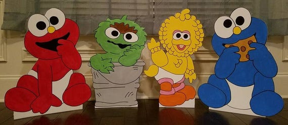 1 ONE 2ft Baby Sesame Street Cutout Standee Prop Choose Any