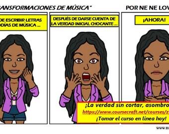 SPANISH - Transforma Música - Comics Una recopilación de 8 'x 11' Páginas: 22 Formato PDF * PROMO *