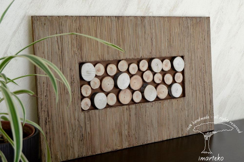 Escultura de pared madera recuperada mosaico de madera - Mosaico de madera ...