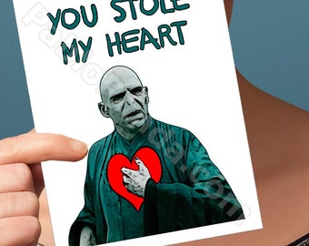 Funny Valentine Card | Harry Potter | Slytherin Lord Voldemort Happy Valentines Valentine Boyfriend Sexy Valentine Card Valentines Day Gifts