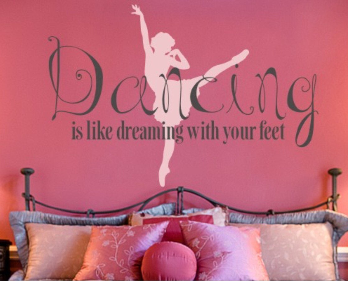 DANCE Vinyl Wall Decal Large Dance Decal BALLET Dance Vinyl - Custom vinyl wall decals dance