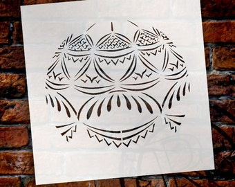 "Blue Delft Lace Ornament Stencil - 4""-SKU:STCL431_1"
