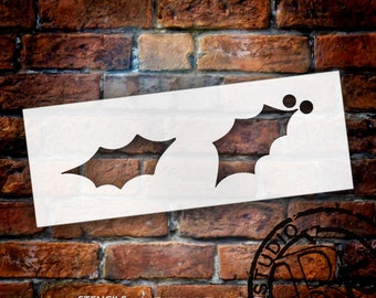 Christmas Holly Art Stencil - Select Size - STCL1000 by StudioR12