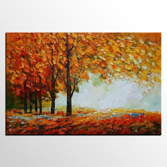 Abstract Art Canvas Painting Living Room Art Modern By Topart007