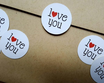 Love You Stickers, Love You Envelope Seals, Love You Cards, Love You Envelopes, Love You, Stickers, Love You Seals, Sticker Seals, Valentine