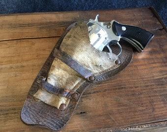 Amazing vintage cowhide capgun holster
