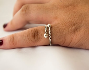 Sterling Silver Ring for Women, Boho Ring, Midi Ring, Unique Ring, Silver Stacking Ring, Silver Stackable Ring