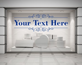 Custom Text Restaurant, Cafe, Business Decal Sign Sticker for Windows, Walls and more. (#139)