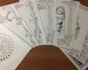 BOS Coloring Pages ~ Mabon Pack