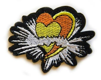 Embroidered Heart Appliqué