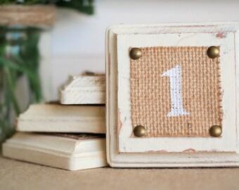 Rustic Table Numbers, Rustic Wooden Blocks Table Numbers, Shabby Chic Table Numbers, Reception Table Decor