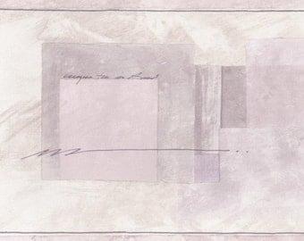 Cream Light Purple Abstract Squares SF78341 Wallpaper Border