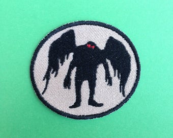 MothMan Iron-on Patch