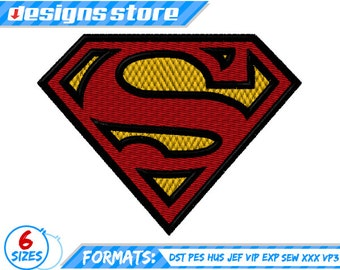 Superman EMBROIDERY DESIGN SUPERHERO Logo Machine Justice League Dc SuperFriends