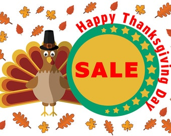 Happy Thanks Giving Day Sale Banner 3 x 2 Ft