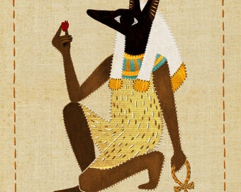 A is for Anubis Print