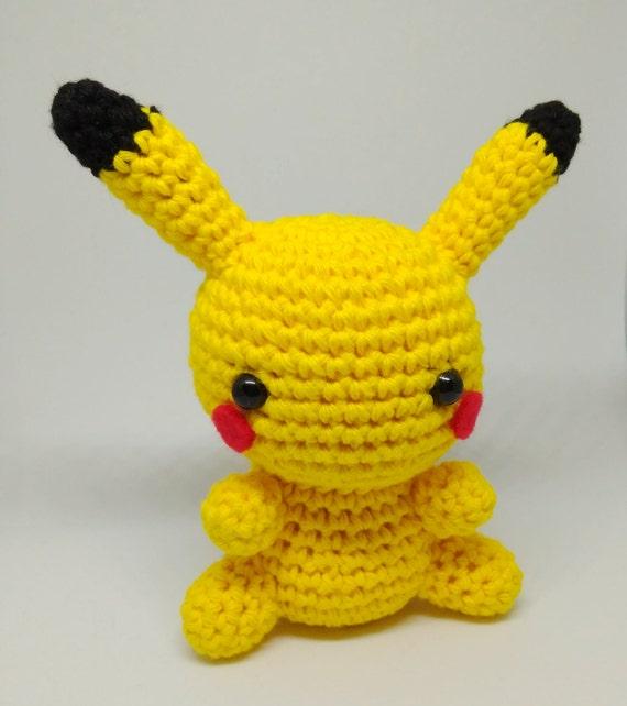 Pikachu En Amigurumi : Pikachu amigurumi Pokemon hecho a mano en ganchillo LISTO