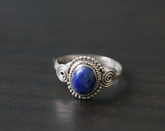 Lapis Lazuli Ring Oval,Lapis Ring, Silver ring, lapis stone ring