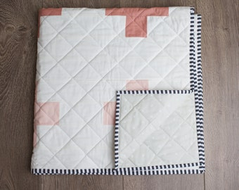 Ready to Ship Shades of Pink Ombre Quilt / Plus Quilt