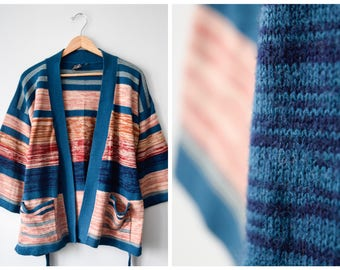 70s space dye wrap sweater | Fits many