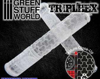 Rolling Pin - TRIPLE HEXAGONS Texture - Create your own bases - Warhammer
