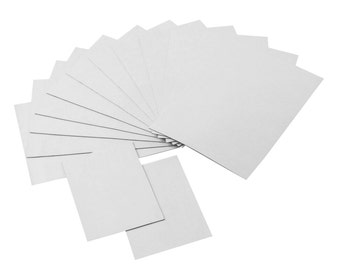 Strong Flexible Self-Adhesive Magnetic Sheets, 4 x 6 and 2 x 3 Peel & Stick Refrigerator Magnet Sheets for Photos and Art (14 Pieces)