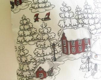 20x20 Scandinavian Christmas Style Handmade Burgundy Red White Throw Pillow Sham Cushion Case Cover
