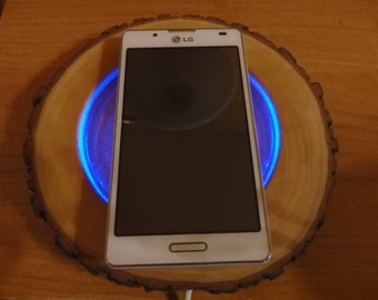Wireless Charger Pad, Wooden Wireless Charging Station, Wireless Phone Charger,  Wireless Cell Phone Charging, Charger, Qi Wireless Charger