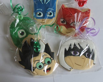 Pj masks cookies with villans 12 cookies