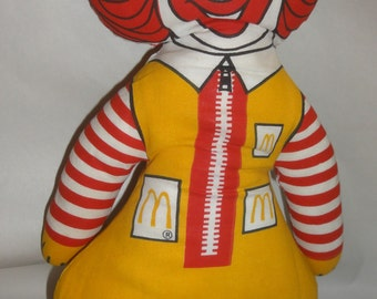 Vintage Ronald McDonald Cloth Doll