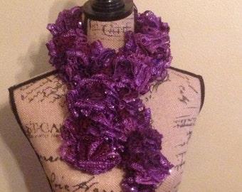 Purple Royalty Ruffle Scarf