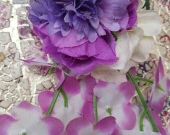 The Purples Cascading Hair Flower