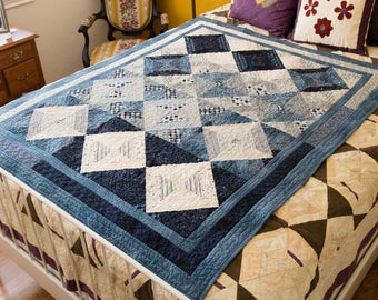Blue Jeanie Handmade Quilt