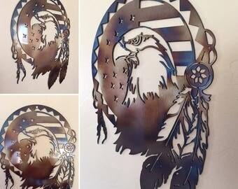 Eagle Art Dream catcher Metal Wall Art Decor
