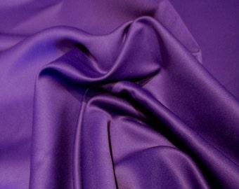 "JN00067 Sale Item Purple 88 Dull Matte Satin Peau de Soie Soft Silky Smooth Drape High Fashion Home Decor 58/60"" Fabric By The Yard"